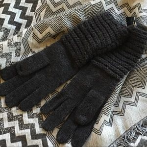 Lauren Ralph Lauren Gloves Charcoal Knit